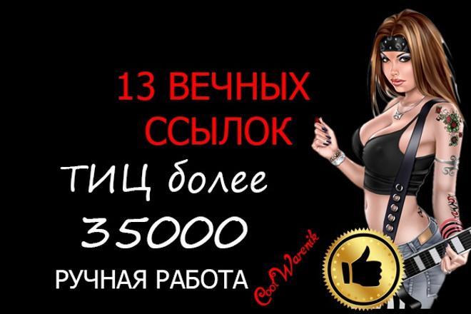 13 вечных трастовых русских ссылок. Ручная работа.  Общий ТИЦ от 35000 1 - kwork.ru