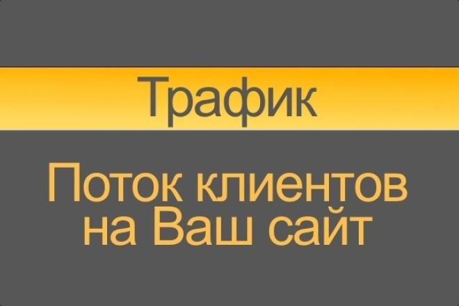 Качественный трафик на Ваш сайт, увеличение продаж 1 - kwork.ru