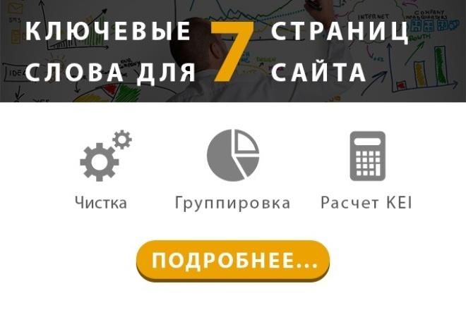 Высокоэффективные Ключевые Слова для 7 Страниц  Вашего Сайта 1 - kwork.ru