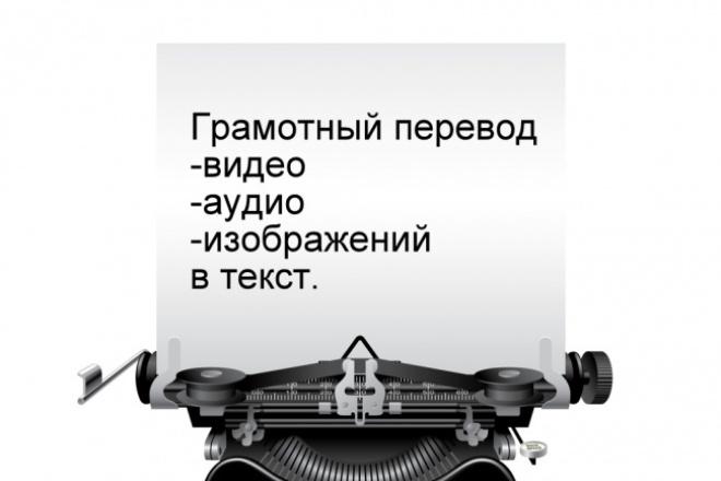 переведу видео,аудио, материалы с изображения в текст 1 - kwork.ru