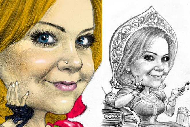 Нарисую шарж, карикатуру, портрешарж 1 - kwork.ru