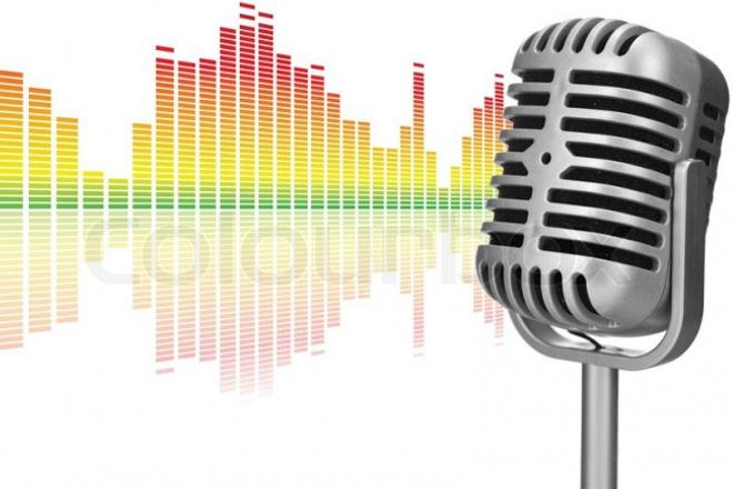 Озвучу аудиороликАудиозапись и озвучка<br>Озвучу Ваш текст. Сюда же входит обработка голоса, возможность менять тональность. Также на фон при вашем желании могу поставить какую-нибудь музыку. 1 кворк = аудио до 60 сек<br>