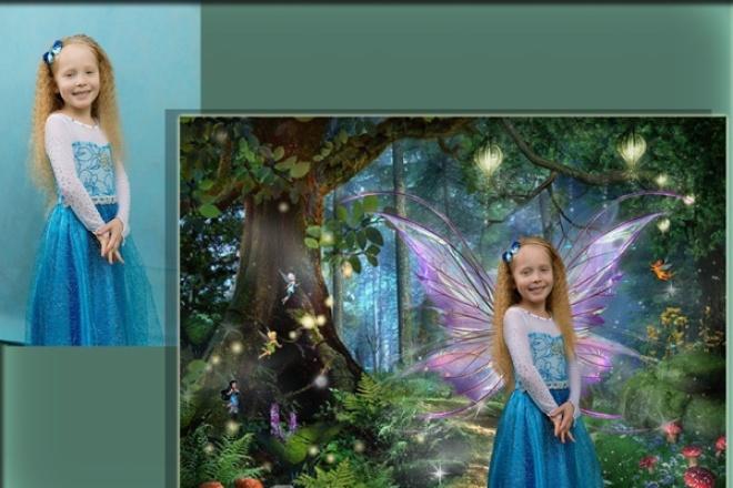 Сделаю оригинальный фотомонтажФотомонтаж<br>Создание уникальной картинки с вашим изображением в главной роли. Сюжет собирается из несколько изображений, путем слияния в одно целое, с помощью художественных кистей и различных спец.эффектов в графическом редакторе.<br>