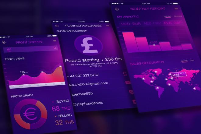 Финансовое iOS-приложение 5 - kwork.ru