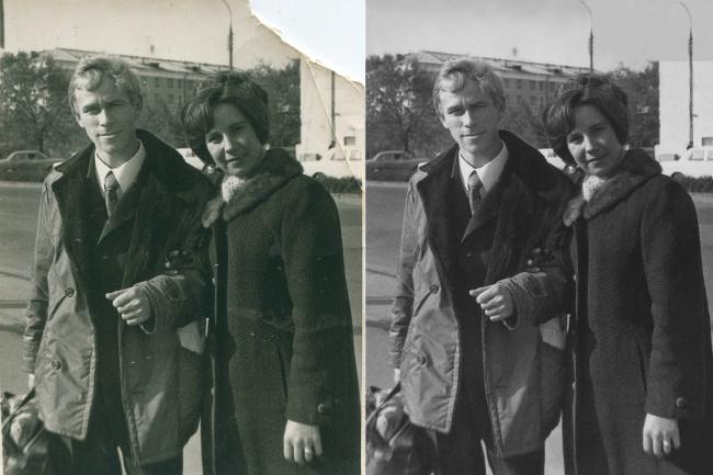 Профессиональная реставрация старых фотоОбработка изображений<br>Я подарю старым фотографиям вторую жизнь! Профессионально реставрирую старые фотографии, восстанавливаю потерянные фрагменты, удаляю царапины, заломы, пятна. При оплате учитывается степень сложности реставрации: - легкая (до двух фото за 500 рублей) - средней сложности (500 рублей + доп. опция средней сложности реставрация) - сложная реставрация (500 рублей + доп. опция сложная реставрация)<br>