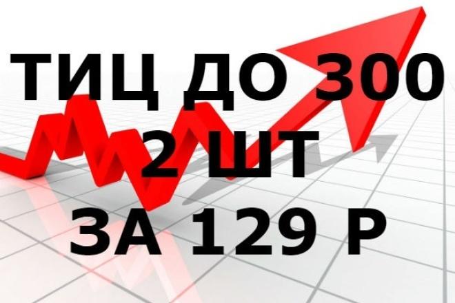 2 освобождающихся домена в ru или рф зоне с ТИЦ от 100 до 300Домены и хостинги<br>2 освобождающихся Ru или Рф доменов с Тиц до 300 в зоне. Домены с тиц - это отличное начало для вашего нового сайта. За 1 Кворк Вы получаете список из 2 освобождающихся доменов с тиц 100, доступных для покупки на аукционе за цену от 129 руб до 1000 руб. Дополнительно, оплачивая 2 й кворк за 500 руб Вы получаете 2 домена с ТИЦ 100 - 200, доступных для покупки на аукционе за цену от 129 руб до 1000 руб. Дополнительно оплачивая 1000 руб Вы получаете 2 домена с ТИЦ 200 - 300, доступных для покупки на аукционе за цену от 129 руб до 1000 руб.<br>