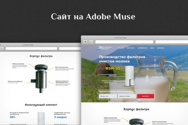 Любые правки сайта на Adobe Muse 1 - kwork.ru