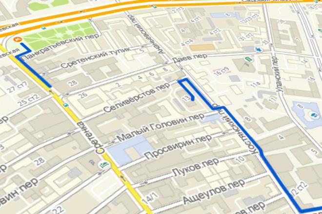 Анимация по карте - маршрут пути по карте - схема проезда 1 - kwork.ru