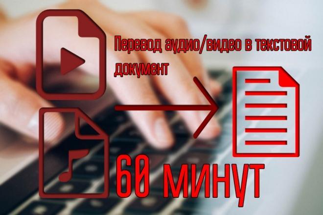 Транскрибация, перевод аудио или видео в текст 1 - kwork.ru