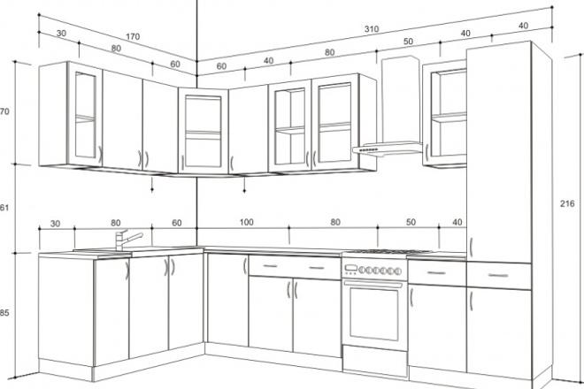 Сделаю 3D модель и визуализацию кухонного гарнитура, шкафа, корпусной мебелиМебель и дизайн интерьера<br>Сделаю 3D модель и визуализацию кухонного гарнитура, шкафа, корпусной мебели, стола, стульев по эскизам, чертежам, фото.<br>
