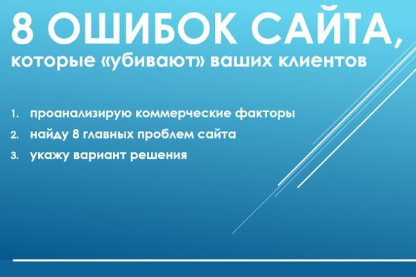 Анализ коммерческих факторов ранжирования сайта 1 - kwork.ru