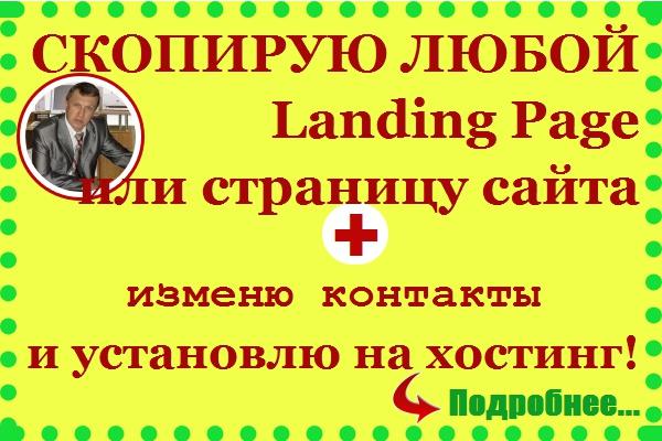 Сделаю копию любого лендинга или страницы сайта и установлю на хостинг 1 - kwork.ru