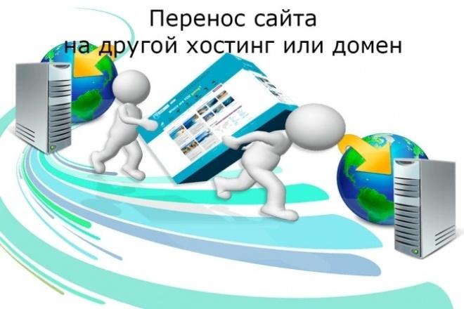 Перенесу сайт на другой хостинг, доменДомены и хостинги<br>Перенесу качественно сайт на другой хостинг или домен без потери данных с сохранением мета данных. Перенесу базу данных и все подключу.<br>