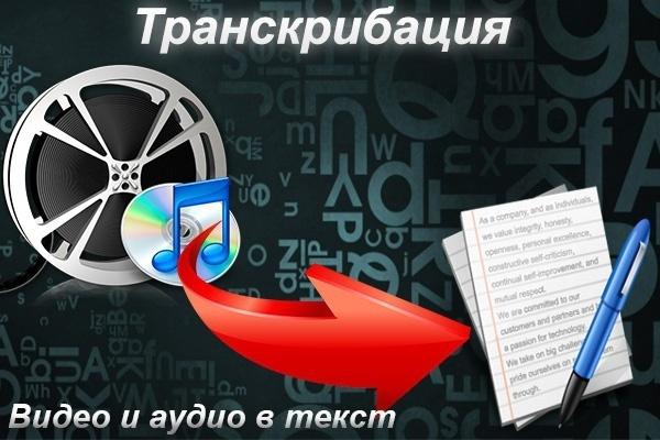 Транскрибация аудио и видео материалов в текстовый формаНабор текста<br>Качественный перенос информации из аудио или видео файлов, в текстовый формат. Один кворк = транскрибация текста с аудио или видео источника, длительностью до 60 минут. Ускоренное выполнение транскрибации в течение дня!<br>