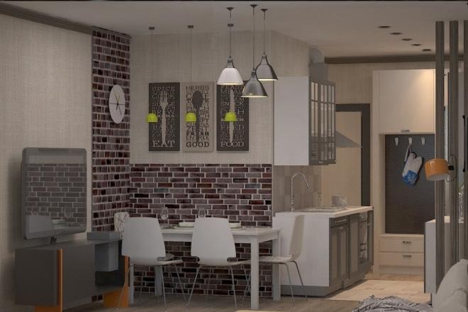 Дизайн интерьера в современном стилеМебель и дизайн интерьера<br>Создам дизайн интерьера жилого помещения в современном стиле. Готовый дизайн интерьера будет включать: 1. Обмерочный план, 2. План демонтажа, 3. План возводимых перегородок, 4. План с расстановкой мебели и оборудования (до 2 вариантов), 5. 3D визуализация интерьера (до 3 ракурсов на одно помещение). 500 руб. = 1 кв. м по полу.<br>