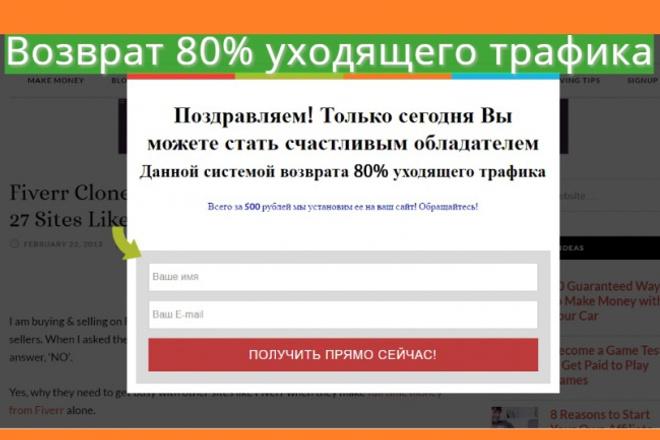 установлю скрипт Возврата уходящего трафика 1 - kwork.ru