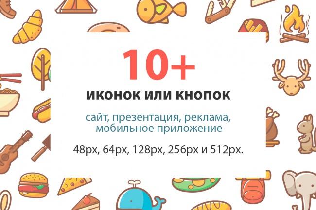 До 10  иконок или кнопок для проекта 1 - kwork.ru