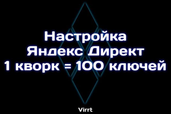 Настрою Яндекс-директ. 100 ключей 1 - kwork.ru