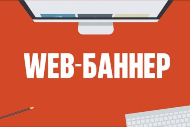Сделаю Web-баннер на сайтБаннеры и иконки<br>Разработаю баннер для web сайта любого размера из ваших или иных изображений. Баннер может содержать только картинки либо картинки и текст.<br>