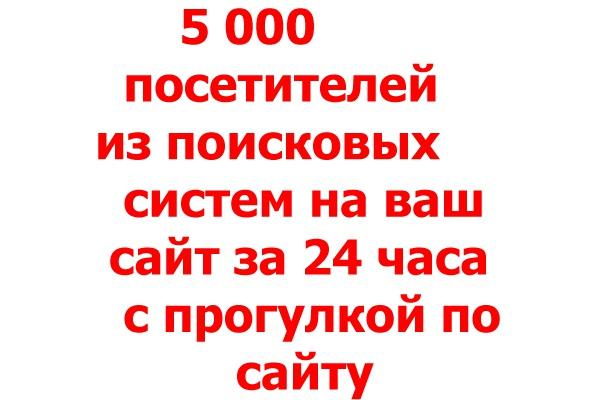 5000 уникальных посетителей с прогулкой по сайту из поисковых систем 1 - kwork.ru