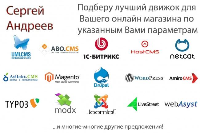 подберу оптимальную CMS (движок) для Вашего магазина 1 - kwork.ru