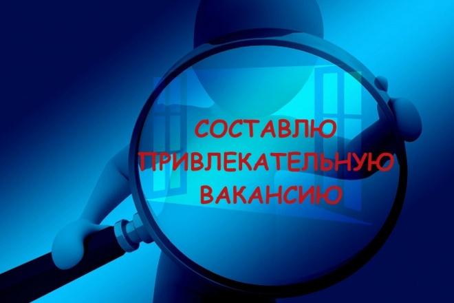 Составлю вакансию 1 - kwork.ru