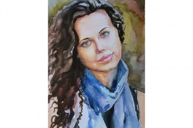 Нарисую портрет акварелью 1 - kwork.ru