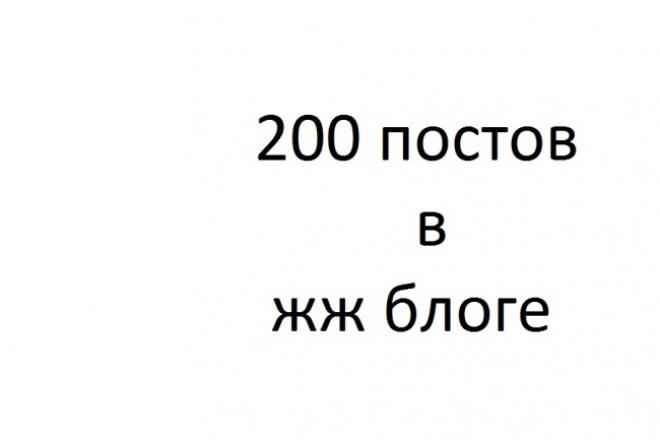 200 постов (одинаковых) в вновь созданном жж блоге 1 - kwork.ru