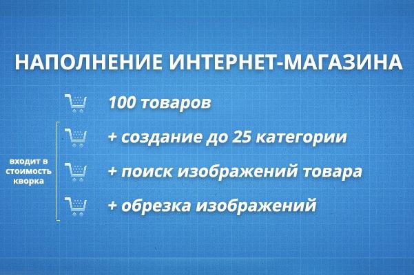 сделаю наполнение интернет-магазина товаром 1 - kwork.ru
