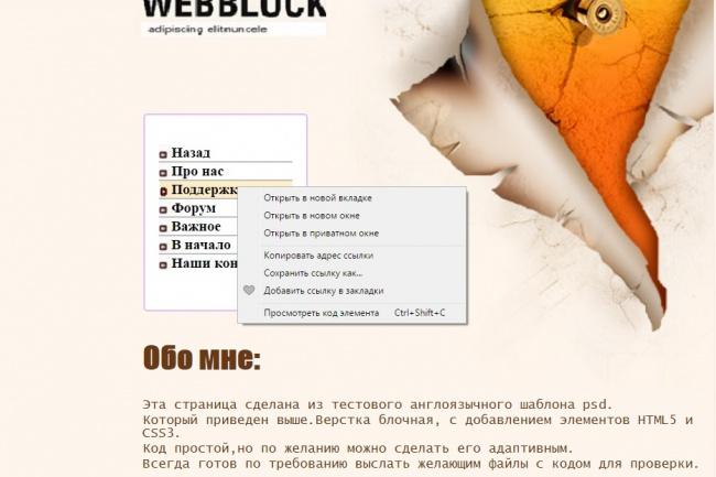 сверстаю страницу 1 - kwork.ru