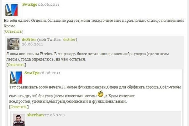 30 комментариев на вашем сайте, с живыми людьми 1 - kwork.ru