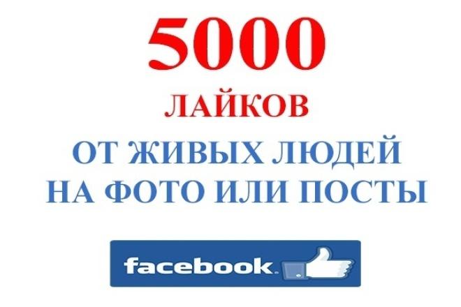 5000 Лайков на фото или посты Фейсбук 1 - kwork.ru