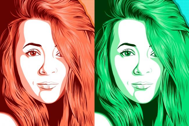 нарисую поп-арт портрет по фото 1 - kwork.ru