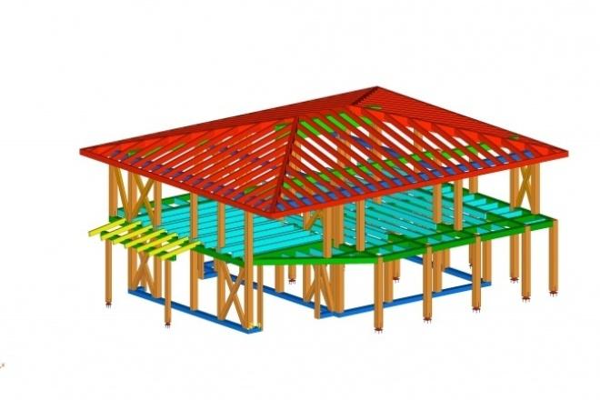 Концепт деревянной конструкции 1 - kwork.ru