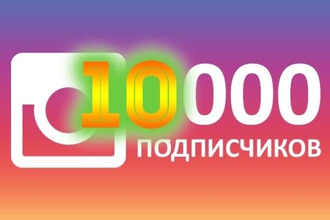 накручу 10 000 подписчиков инстаграм 1 - kwork.ru