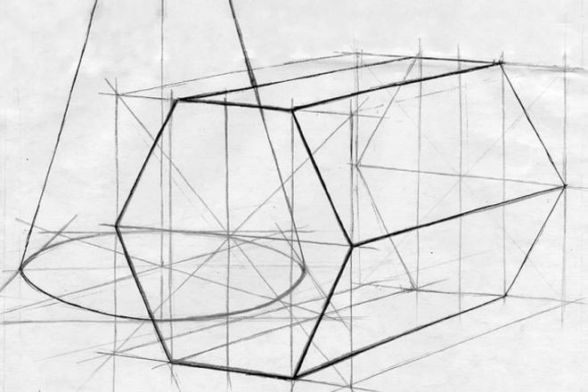 Рисунок геометрических фигур с построением 1 - kwork.ru