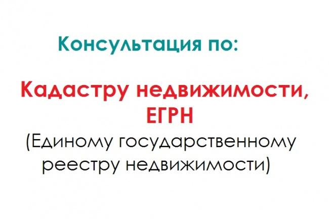 Консультация по Кадастру недвижимости, ЕГРН 1 - kwork.ru