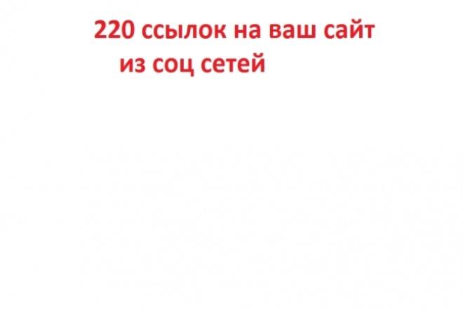 220 Ссылок на Ваш сайт из соцсетей 1 - kwork.ru