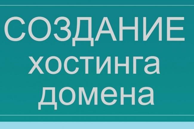 Зарегистрирую хостинг и домен, установлю CMS 1 - kwork.ru