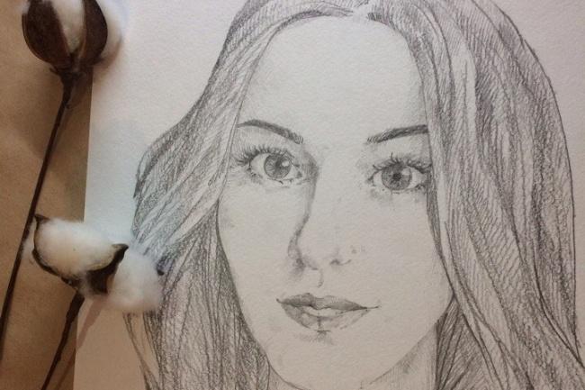 Рисую портрет карандашом 1 - kwork.ru