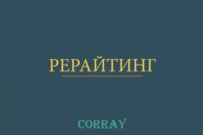 Рерайтинг до 7000 символов 1 - kwork.ru