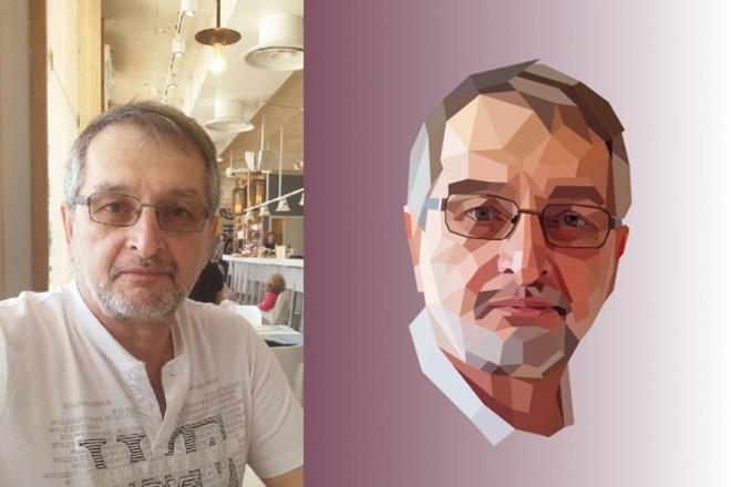 Полигональный портрет 1 - kwork.ru