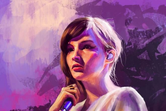 Цифровой портрет 1 - kwork.ru