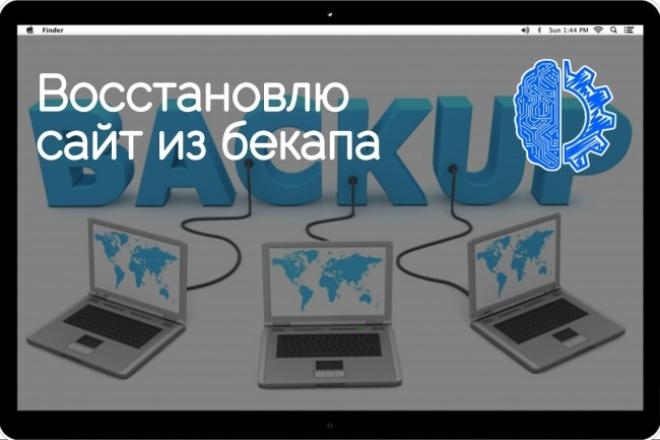 Восстановлю сайт из бекапа 1 - kwork.ru