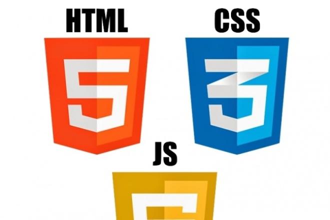 Верстка из PSD в html | CSS | JS 1 - kwork.ru
