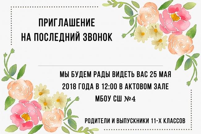 Сделаю пригласительные для ваших гостей 1 - kwork.ru