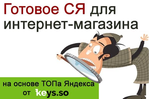 Готовое СЯ для интернет-магазина на основе ключей ТОПа Яндекса 1 - kwork.ru