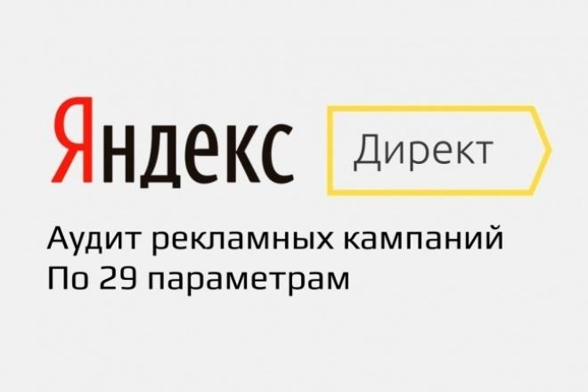 Аудит кампаний Яндекс Директ 1 - kwork.ru