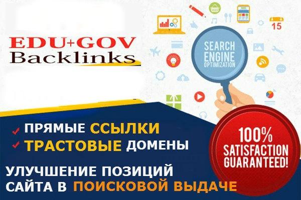 5 ссылок с .EDU и .GOV доменов 1 - kwork.ru
