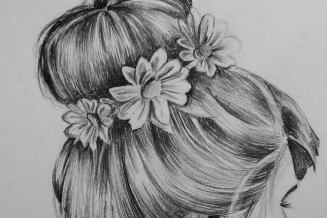 Нарисую портретИллюстрации и рисунки<br>нарисую портрет карандашом на бумаге, отсканирую, отправлю Вам. Это будет отличным подарком для друга, или для себя!)<br>